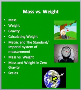 Mass Weight 1