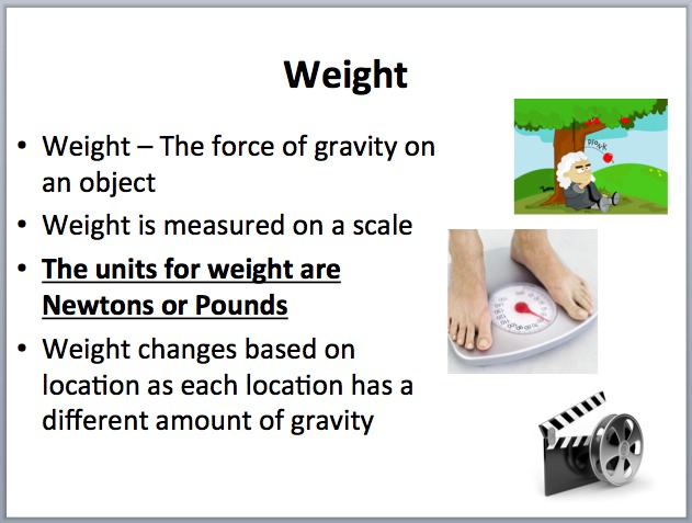 Mass Vs Weight A Lesson To Clarify These Concepts