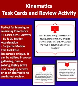 Task Cards - Kinematics 1